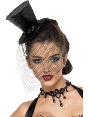 Glitter Burlesque Mini Top Hat